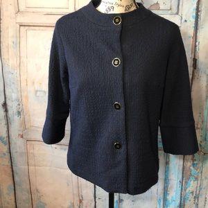 J McLaughlin Blazer w Buttons Cotton Blend